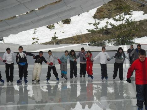 Pista de hielo Pradollano Sierra Nevada