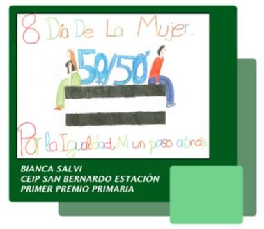 Cartel Día de la mujer, ceipsanbernardo
